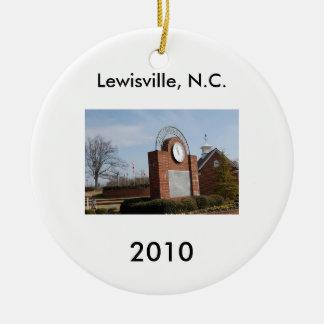 Lewisville, N.C. Ceramic Ornament