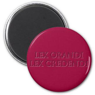 Lex Orandi Lex Credendi in 3D effect Magnet