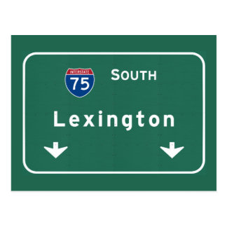 Lexington Kentucky ky Interstate Highway Freeway : Postcard