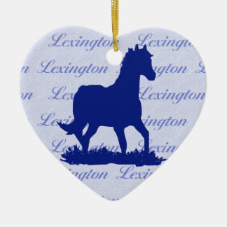 Lexington KY Horse Christmas Ornament