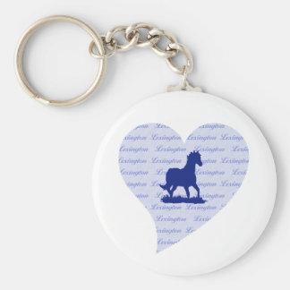 Lexington Ky Horse Heart Bluegrass State Keychain