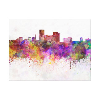 Lexington skyline in watercolor background canvas print