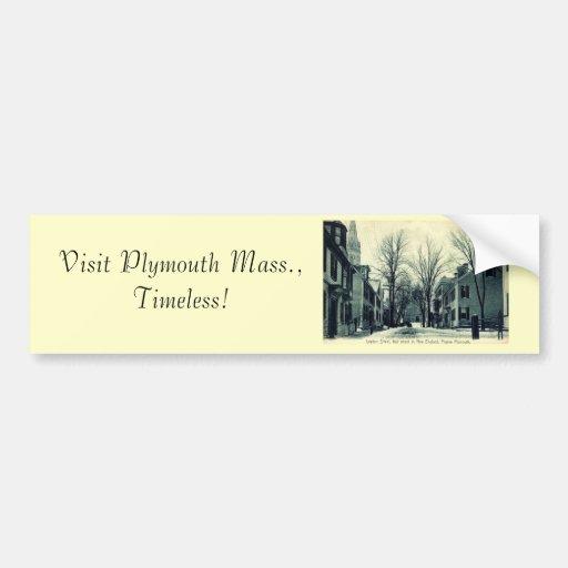Leyden St Pilgrim Plymouth MA c1908 Bumper Sticker