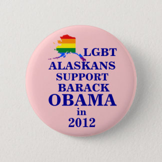 LGBT Alaskans for Obama 2012 2 Inch Round Button