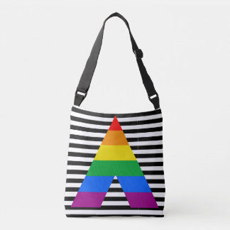 LGBT Ally Pride Flag Colors All-Over-Print Crossbody Bag