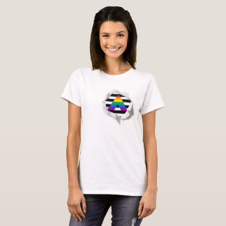 LGBT Ally Pride Flag True Colors Torn T-Shirt