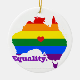 LGBT AUSTRALIA CERAMIC ORNAMENT