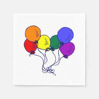 LGBT Balloons Napkin