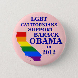 LGBT Californians for Obama 2012 2 Inch Round Button