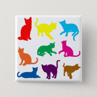 LGBT Cats 2 Inch Square Button