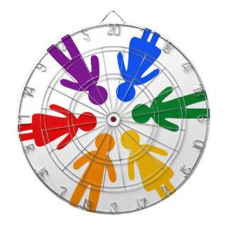 lgbt circle dart boards