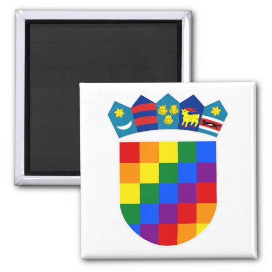 LGBT Croatia Square Magnet