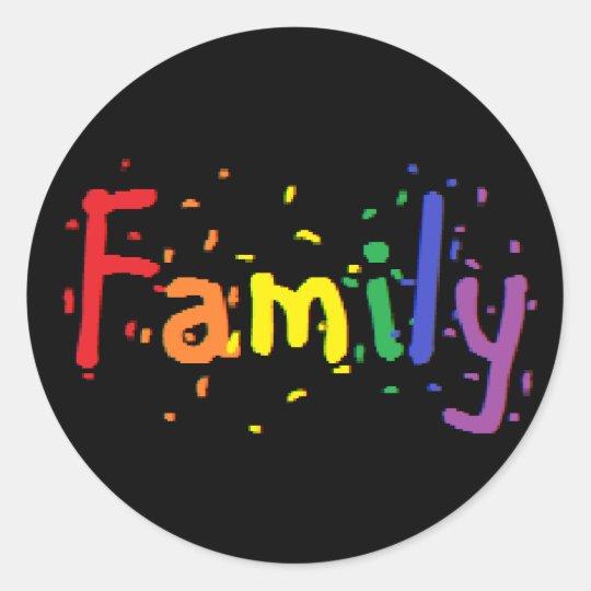 lgbt family logo classic round sticker zazzle ca