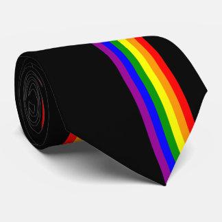LGBT Flag on Black Tie