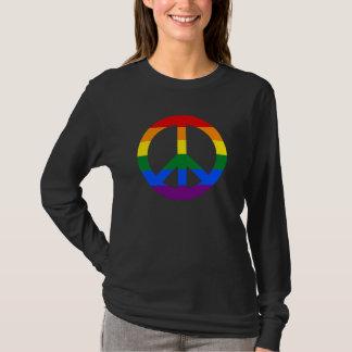 LGBT flag peace sign Hoodie
