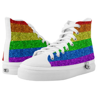 LGBT flag vibrant sparkles High Tops