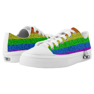 LGBT flag vibrant sparkles Low-Top Sneakers