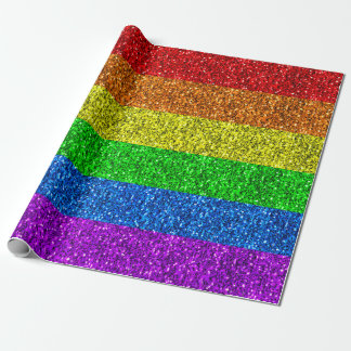 LGBT flag vibrant sparkles Wrapping Paper