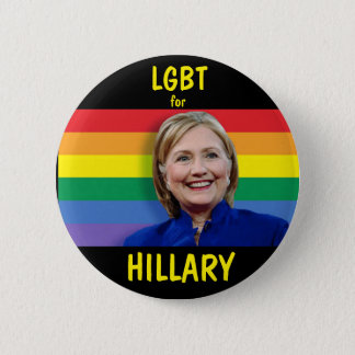 LGBT for Hillary Clinton 2 Inch Round Button