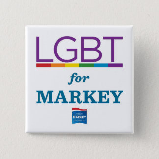 LGBT FOR MARKEY 2 INCH SQUARE BUTTON
