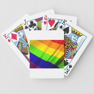 Lgbt Gay Flag Symbol Pride Rainbow Lesbian Love Bicycle Playing Cards