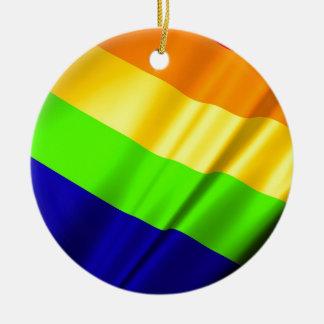 Lgbt Gay Flag Symbol Pride Rainbow Lesbian Love Ceramic Ornament