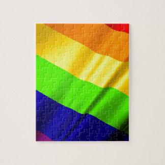 Lgbt Gay Flag Symbol Pride Rainbow Lesbian Love Jigsaw Puzzle