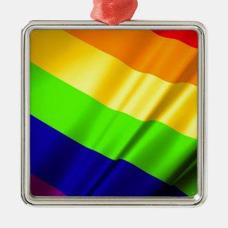 Lgbt Gay Flag Symbol Pride Rainbow Lesbian Love Metal Ornament