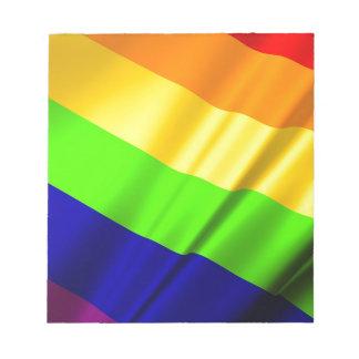 Lgbt Gay Flag Symbol Pride Rainbow Lesbian Love Notepad