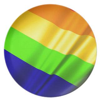 Lgbt Gay Flag Symbol Pride Rainbow Lesbian Love Plate