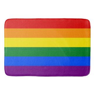 LGBT Gay Pride 6-Stripe Rainbow Flag Colorful Bathroom Mat