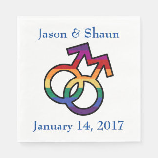 LGBT Gay Pride Male Gender Symbol Paper Napkins