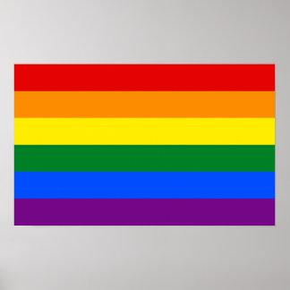 LGBT Gay Pride Rainbow Flag Poster