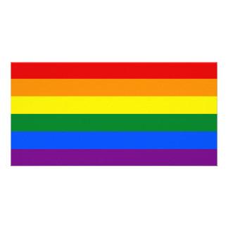 LGBT Gay Pride Rainbow Flag Stripe Photo Card