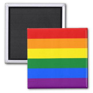 LGBT Gay Pride Rainbow Flag Stripe Square Magnet