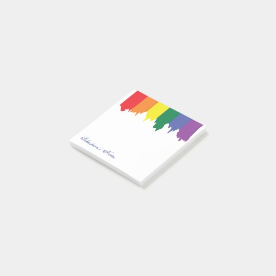 LGBT Gay Pride Rainbow Paint Personalized Post-it® Notes