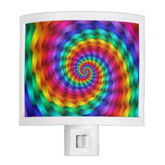 LGBT Gay Pride Rainbow Spiral Fractal Infinity Night Lights