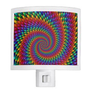 LGBT Gay Pride Rainbow Spiral Fractal Infinity Night Lites
