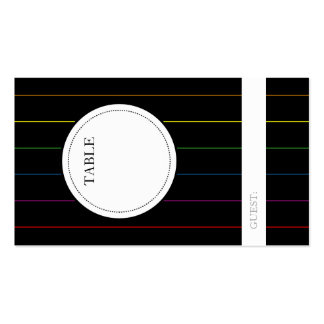 LGBT Guest Seating Table Number Indicator Cards Pack Of Standard Business Cards