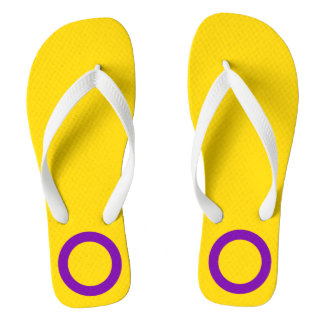 LGBT Intersex Pride Flag Colors Flip Flops