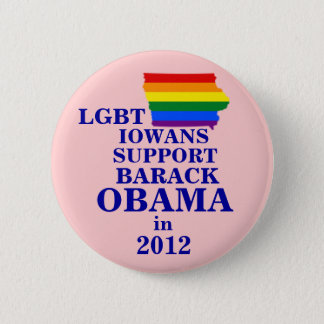 LGBT Iowans for Obama 2012 2 Inch Round Button