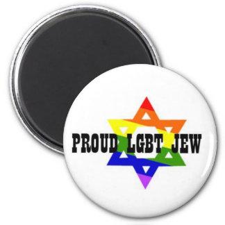 LGBT Jew Magent 2 Inch Round Magnet