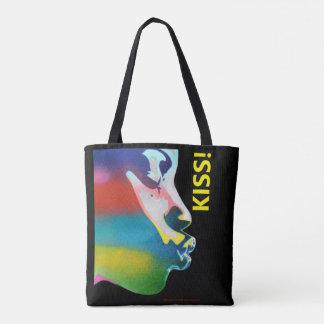 LGBT Kiss Black Tote Bag