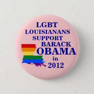 LGBT Louisianans for Obama 2012 2 Inch Round Button