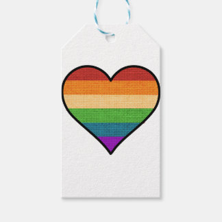 LGBT Love is Love Rainbow Heart Gift Tags