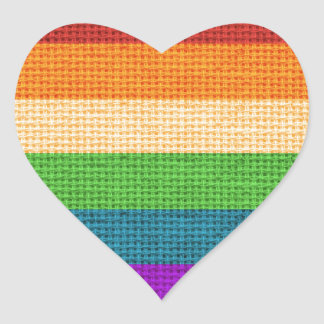 LGBT Love is Love Rainbow Heart Heart Sticker