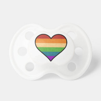 LGBT Love is Love Rainbow Heart Pacifier