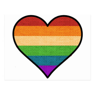 LGBT Love is Love Rainbow Heart Postcard