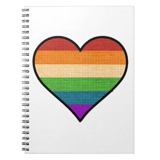 LGBT Love is Love Rainbow Heart Spiral Notebook
