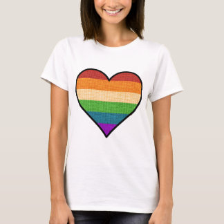 LGBT Love is Love Rainbow Heart T-Shirt